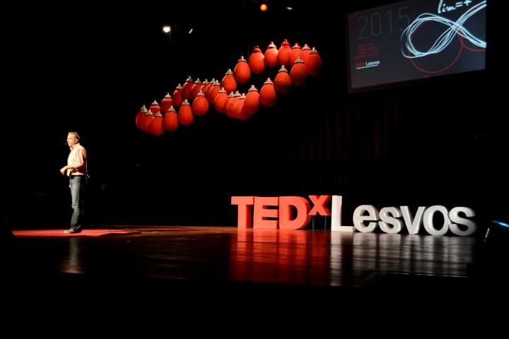 H σκηνή του TEDxLesvos